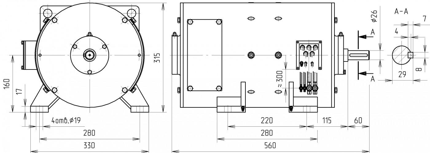 Электродвигатель постоянного тока ДПЭ 12